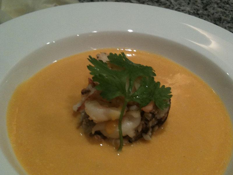 Thai Pumpkin Soup Private Dinner DJ Louis Tan