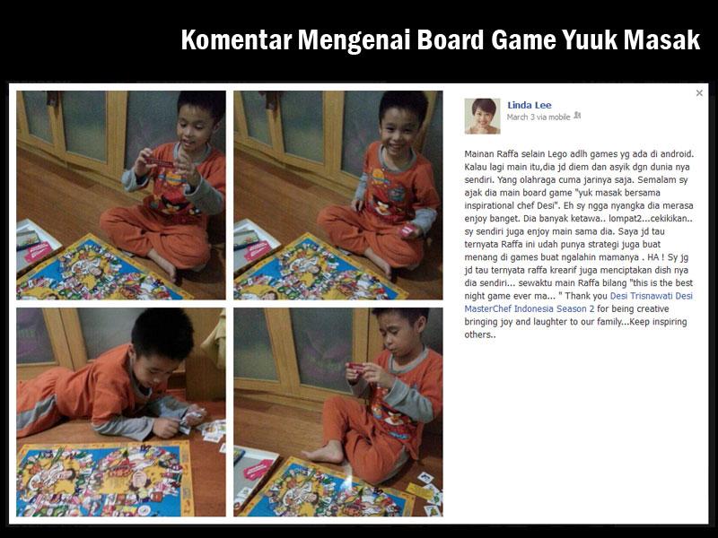 Komentar Board Game Yuuk Masak dari Ibu Linda Lee