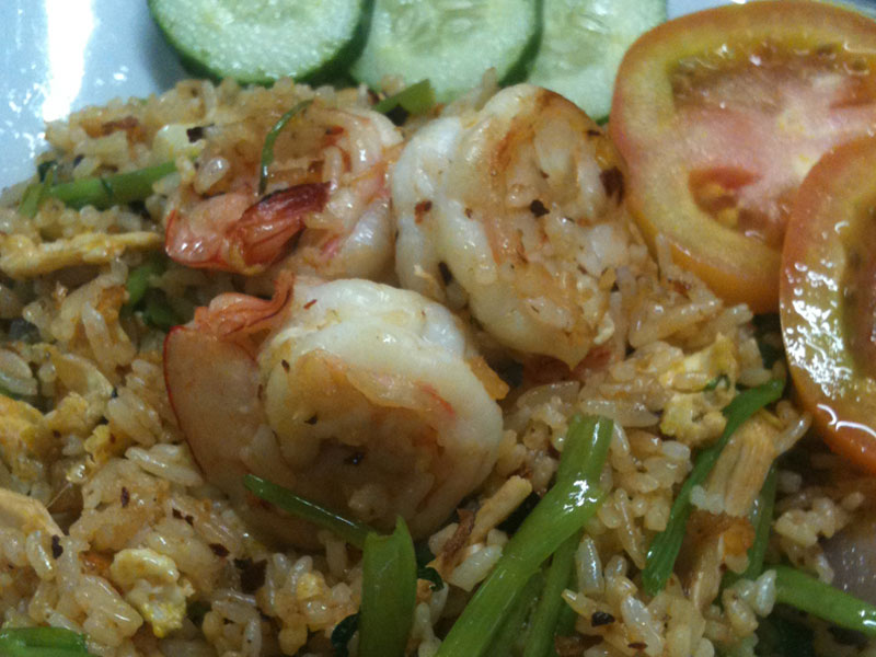 Nasi Goreng Udang Kangkung